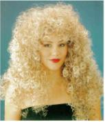 WIG: Frizzy Brown with Blonde Tips