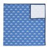 Bikes Light Blue Pocket Square