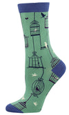 Women's Why the Caged Bird Sings Bamboo Socks