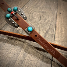 Load image into Gallery viewer, Turquoise & Twisted One Ear Headstall