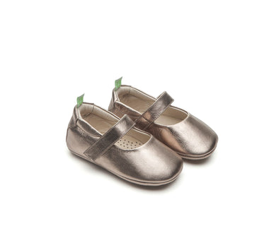 Dolly Baby Shoes in Gold Sparkle