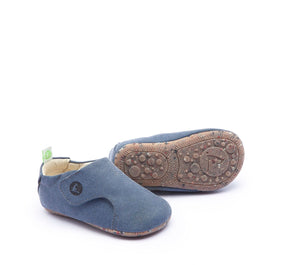 Greeny Baby Shoes in Navy Stone