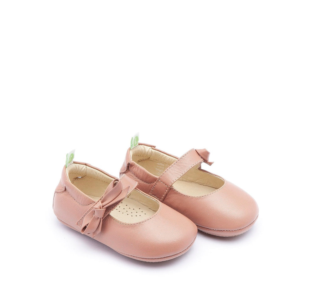 Dorothy Baby Shoes in Mauve Dew