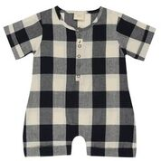 Turtledove Check Playsuit