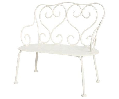 Maileg - Romatic Bench.  Mini - Off White