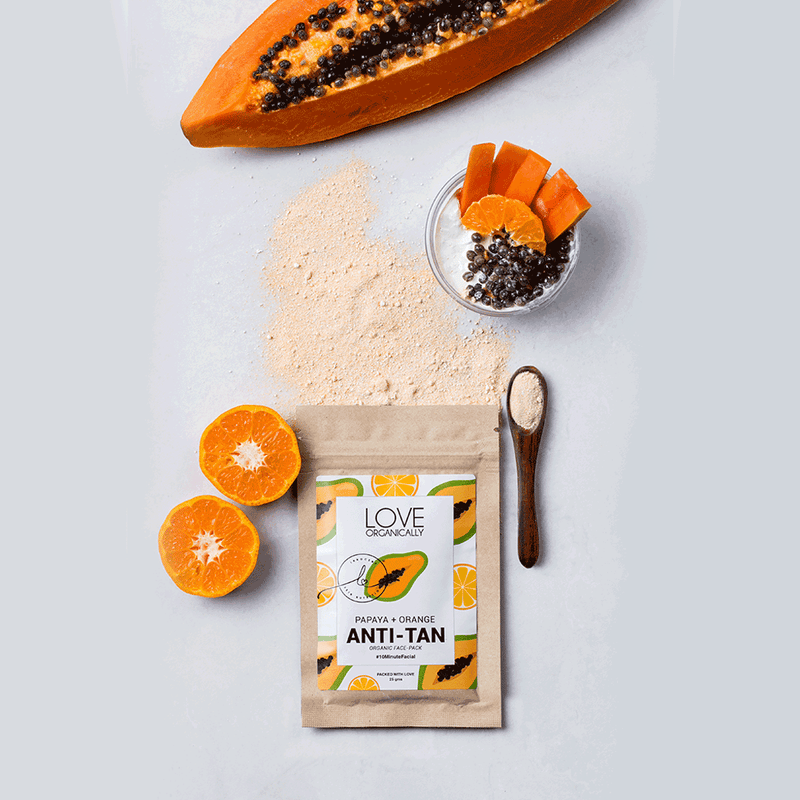 Anti-Tan Face Pack → Papaya + Orange