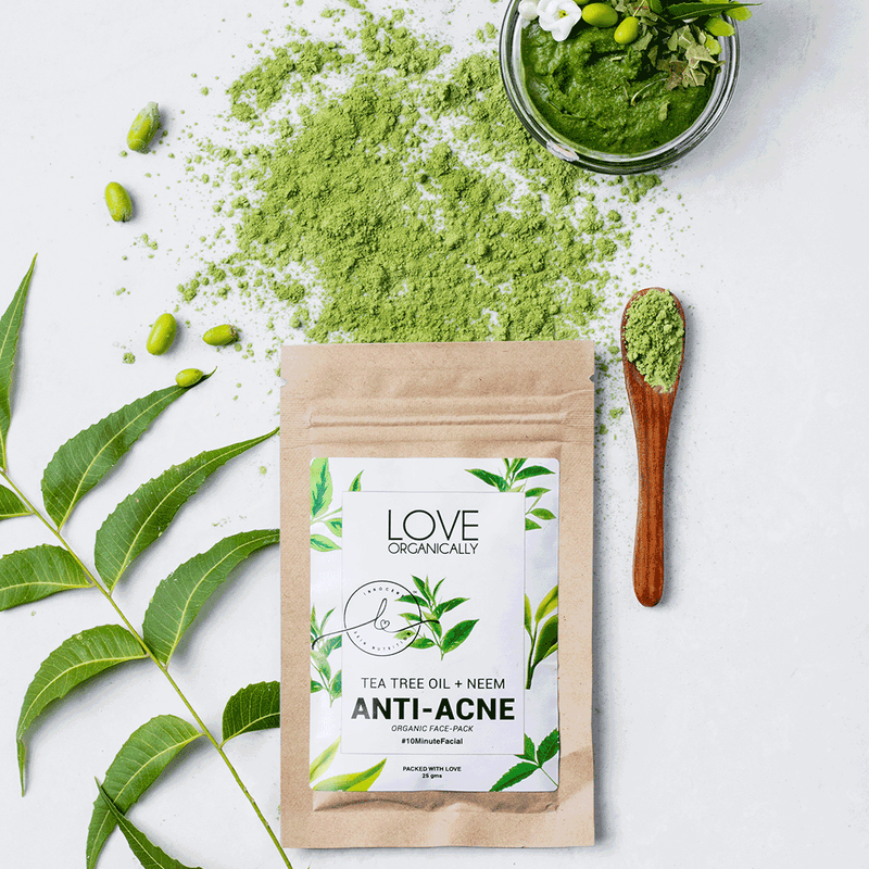 Anti Acne Face Pack - Tea Tree Oil + Neem