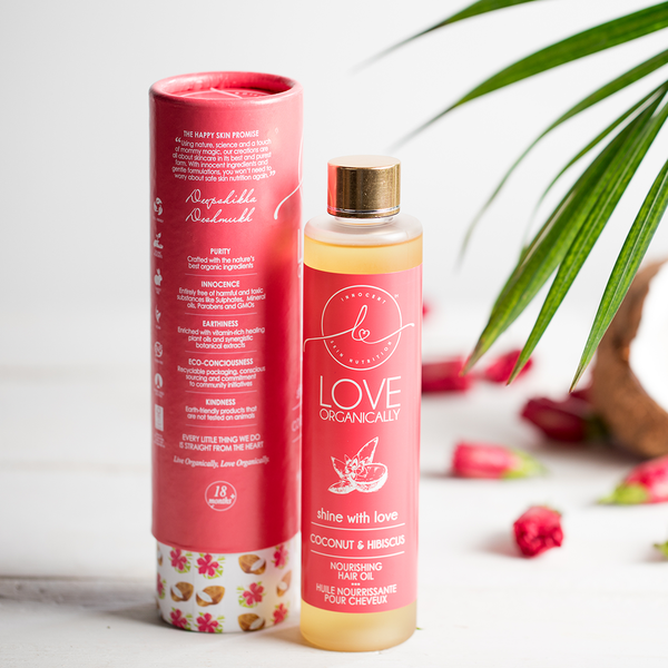 Strengthening & Softening Nourishing Hair Oil → Coconut + Hibiscus