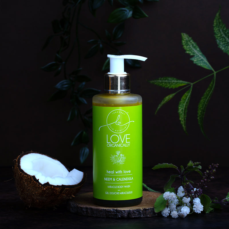 Miracle Antibacterial Face & Body Wash - Neem + Calendula