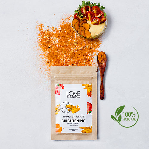 Brightening Face Pack - Turmeric + Tomato