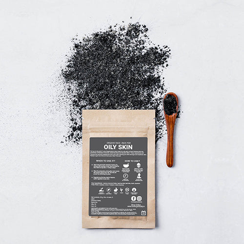 Oily Skin Face Pack - Dead Sea Mud + Bamboo Charcoal