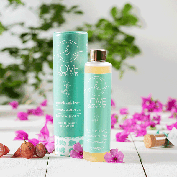 Nourish & Glow Massage Oil - Geranium + Grape Seed