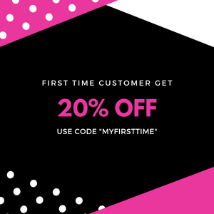 First time customers get 20% off