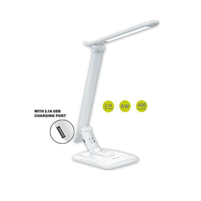Smart LED Desk Lamp With 2.1A USB Charger Rotatable Adjustable 8W Home/Office