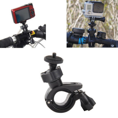 "Bike Mount Motorcycle Handlebar Seat Bar Pole Kit for Camera Go Pro 1/4"" Thread"