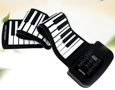 Electronic Keyboard Piano 61Keys Roll Up Soft Flexible Portable Foldable