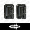 2x Heavy Duty Recessed Spring Handle Steel Black for Rack Flight Road Case