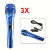 3x Microphone Vocal Karaoke Wired Mic Uni-directional Dynamic Handheld Professional