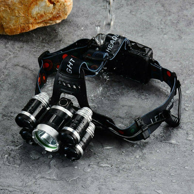 5 LED Headlamp Rechargable Work Headlight Flashlight Camping Head Torch Lamp