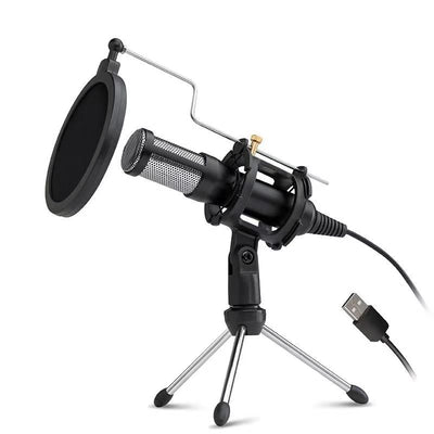 USB Condenser Mic Microphone Kit Gaming/Recording/Streaming Podcast Plug Play Pc Mac