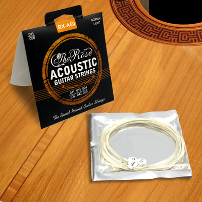 Acoustic Guitar Strings Steel Phosphor Bronze Premium A50 Universal 11-50 + Free Pick