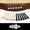 6 X Guitar Bridge Pins Plastic String End Peg Acoustic Guitar Ivory Black Colour