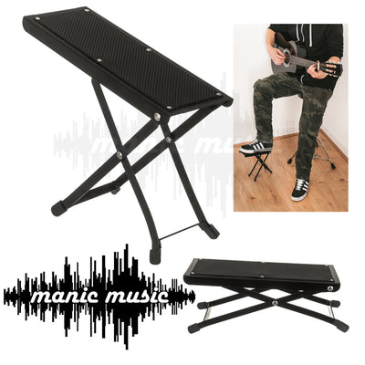 Ashtec Guitarist's footstool Adjustable Guitar Bass Foot Rest Stool Solid Metal
