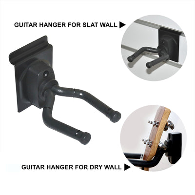 Heavy Duty Rubber Guitar hanger for slat wall and dry wall