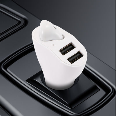 Bluetooth Earbud Headset with Dual Port USB Car Charger 3.1A  V5.0 Car Kit