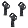 3Pk Rubberised Mic Clip - New