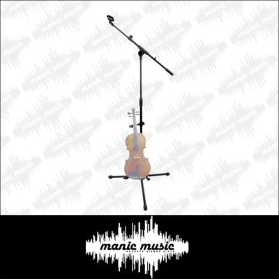 Mic Stand & Instrument Mount Holder Combo Electric Acoustic Bass Guitar Violin +