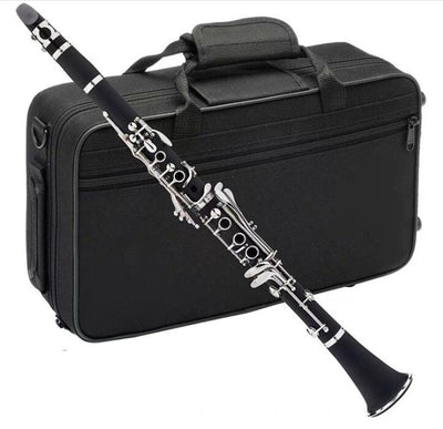 Clarinet 17 Key Bb Flat Student Accessory Kit Case Reed Gloves Cloth +