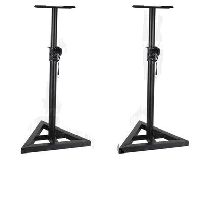 2X Studio Monitor Surround Speaker Floor Stand 150cm Holder DJ Stage Music Home Theatre FREE POSTAGE