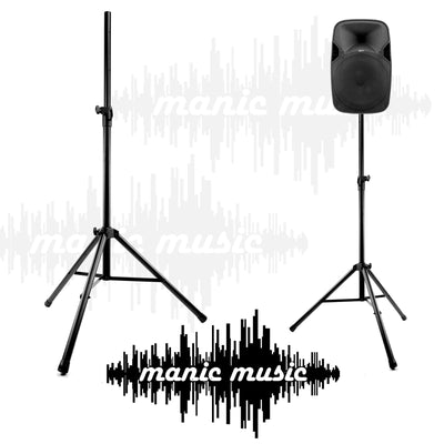 PA Speaker Stand Tripod Base Metal Joint Pair 2m 80kg Heavy Duty Steel 35mm PA DJ FREE POSTAGE