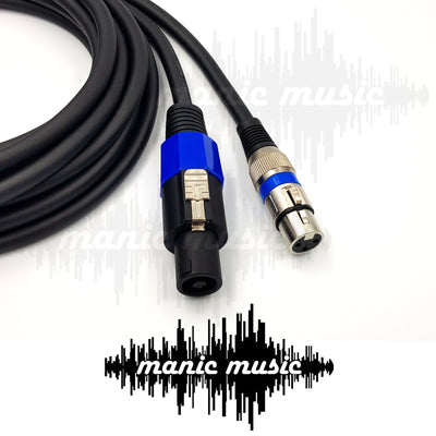 "Speakon to Speakon 1/4"" XLR Female Male Speaker Cable Lead Thick Australian Made 2.5mm 13AWG FREE SHIPPING"