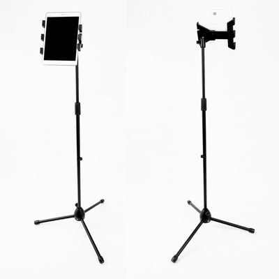 3 in 1 Floor Tripod iPad Tablet Phone Mic Stand 360° Ball Mount 1.8m Universal