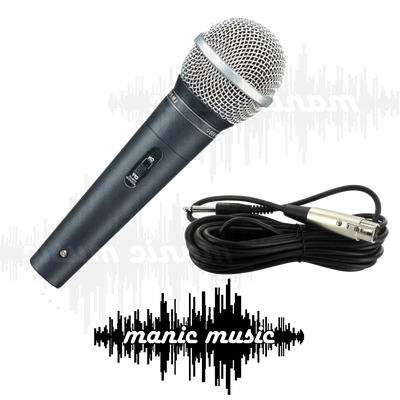 Professional Vocal Karaoke Stage Microphone w/ Switch & Mic Cable Rugged Metal