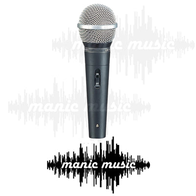 Professional Vocal Karaoke Stage Microphone w/ Switch & Mic Cable Rugged Metal. FREE POSTAGE