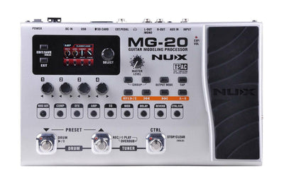 Guitar Effects Pedal Board Modeling Processor Multi FX NuX MG20 Brand new in box