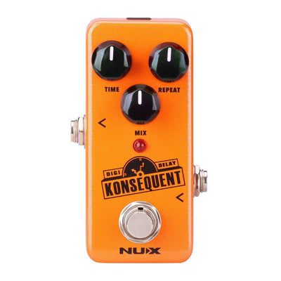 Guitar Effect Pedal KONSEQUENT Digital Delay  NUX NDD-2 Metal NEW