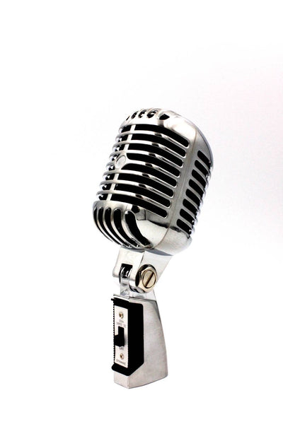 Classic Vintage Dynamic Vocal Microphone Retro Style with XLR Cable. 2 colours Gold or Silver FREE POSTAGE