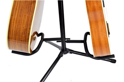 Dual 2 Guitar Stand Acoustic Electric Classical Double Instrument