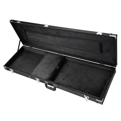 Electric Bass Guitar Case With Lock Rectangle Wood Carrying Hardshell Hard case Roadcase Portable Box