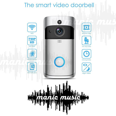 Smart WiFi Wireless Video Doorbell Security Camera + Chime + Battery included