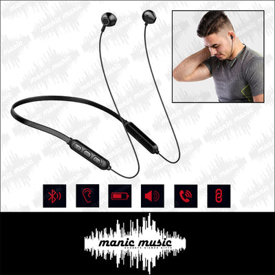 Wireless Stereo Earphones Bluetooth 5.0 Sport Metal Neckband Magnet Water proof FREE POSTAGE