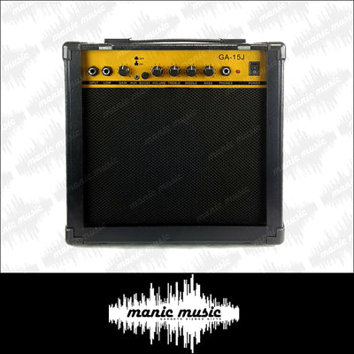 "Guitar Amplifier 15W Combo Amp AUX Input Boost Gain Phones EQ Low High 6.5"" Speaker"