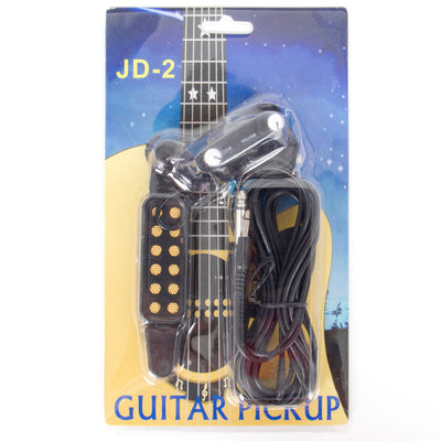 Guitar Pickup Upgrade Kit Sound Hole Magnetic Pre Amp with Tone + Volume Control
