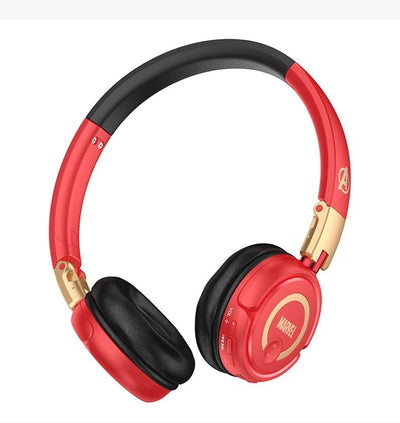 Iron Man Marvel Avengers Infinity War Stereo Bluetooth Headphones & Case