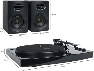 Mbeat Pro-M Stereo Turntable System with Bluetooth - Black