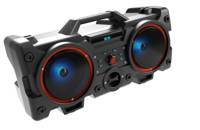SUPER BASS BOOMBOX BLUETOOTH RECHARGEABLE PARTY SPEAKER KARAOKE WITH WIRELESS MICROPHONE /MIC INPUT /USB /TF CARD /AUX /FM RADIO /MP3/ LED LIGHTS